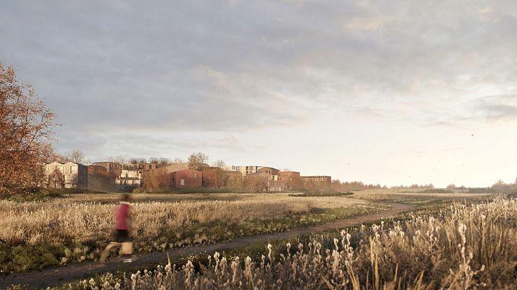 FOTO: Kopenhāgenā būvēs koka ēku kvartālu :: Dienas Bizness